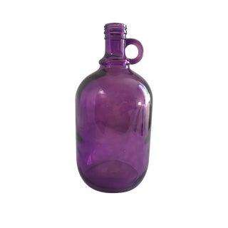 Mid-Century Purple Glass Jug