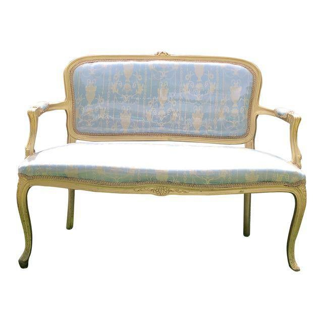 Gold Gilt Italian Louis XVI Settee & Chairs - Set of 5 - Image 2 of 8