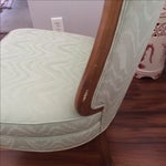 Image of Vintage Sea Foam Slipper Chairs - A Pair
