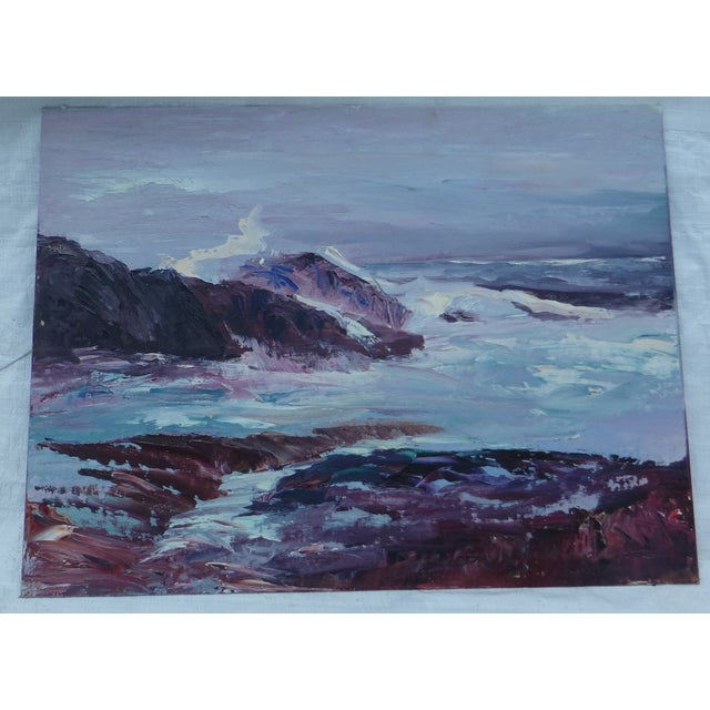 H.L. Musgrave Oil Painting, Turbulent Ocean Scene - Image 2 of 8