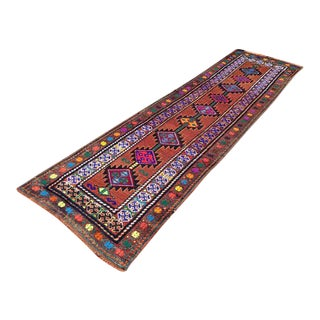 Vintage Turkish Runner Rug - 2′10″ × 10′2″