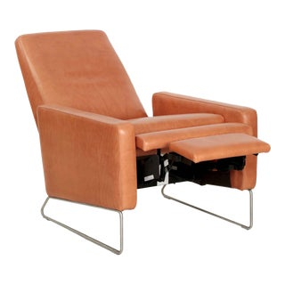 21st Century Modern Leather Reclining Lounge Chair by Design Within Reach