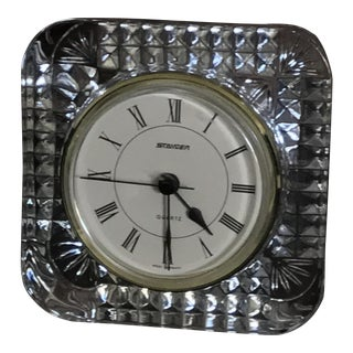 Staiger of West Germany Vintage Crystal Mantle Clock