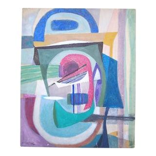 Bernard Segal Abstract Modernist Painting