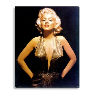 """Marilyn Monroe in Gold Dress"" by Michael Ochs"