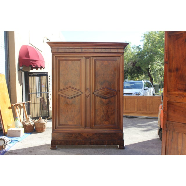 19th Century French Louis Philippe Walnut Armoire Period Chateau Circa 1850s - Image 11 of 11