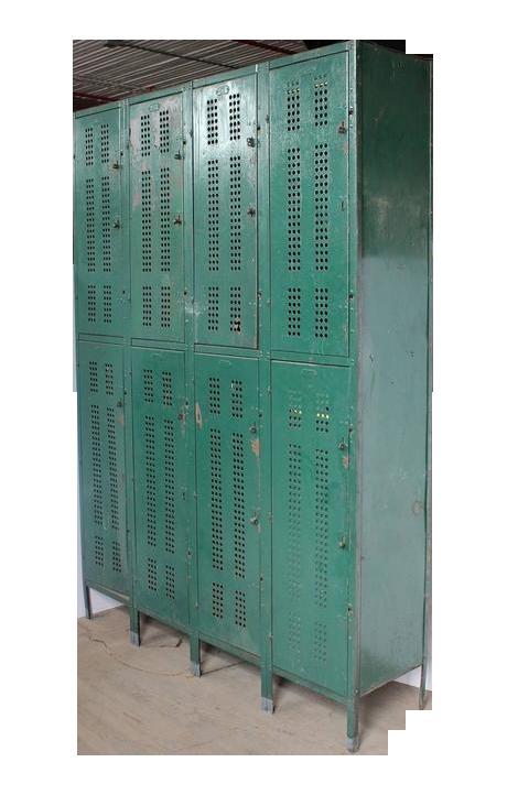 image of 1930s american school metal lockers - Metal Lockers
