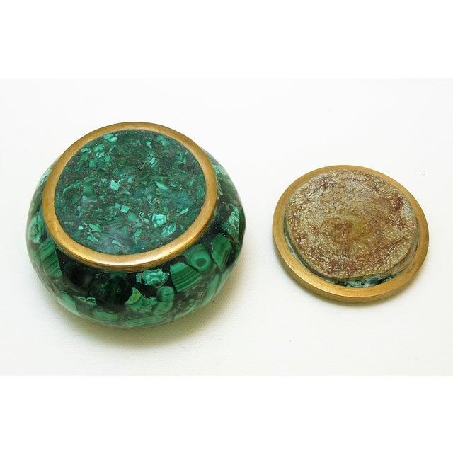 Round Malachite Lidded Box - Image 6 of 8