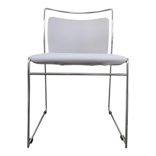 Cassina White Leather Chair