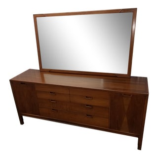 John Stuart Janus Collection Mid-Century Modern Dresser & Mirror
