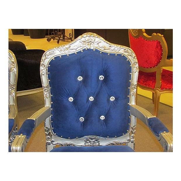 Mid-Century Velvet Armchairs - A Pair - Image 4 of 7