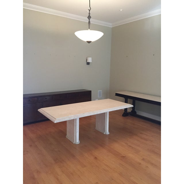 Kreiss Travertine Dining Table - Image 7 of 11