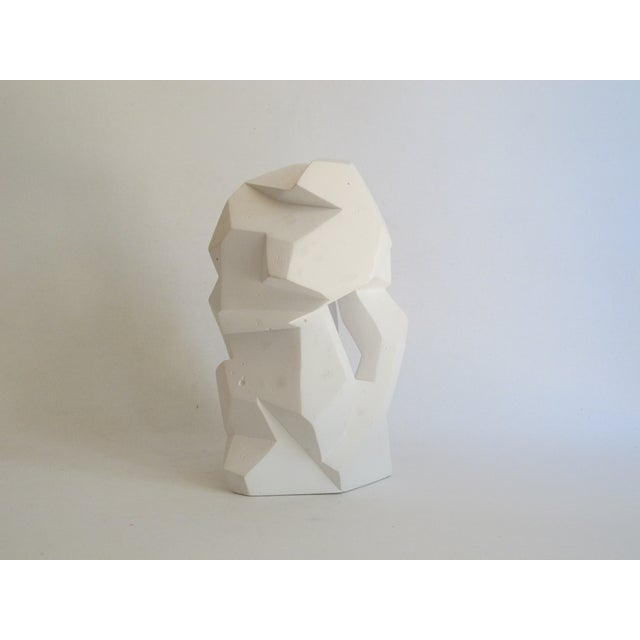 Abstract Cubist White Plaster Statue - Image 10 of 11