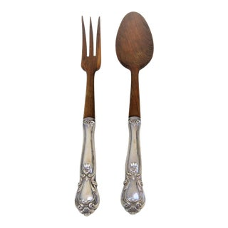 Sterling Salad Servers - A Pair