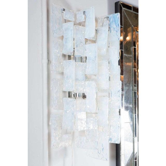 Mid-Century Modernist Iridescent Interlocking Sconces By Mazzega - Image 5 of 7