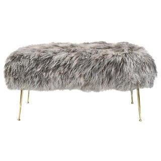 CF Modern Custom Mongolian Fur Vivier Bench