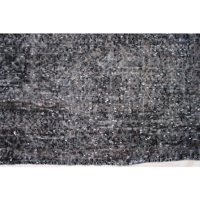 """Image of Black-Gray Turkish Overydyed Rug - 6'4"""" x 10'"""