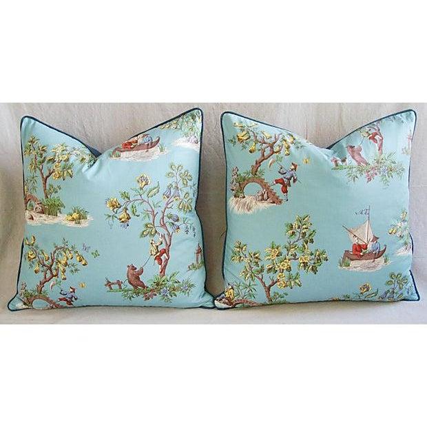 Italian Scalamandre Chinoiserie Pillows - Pair - Image 9 of 9