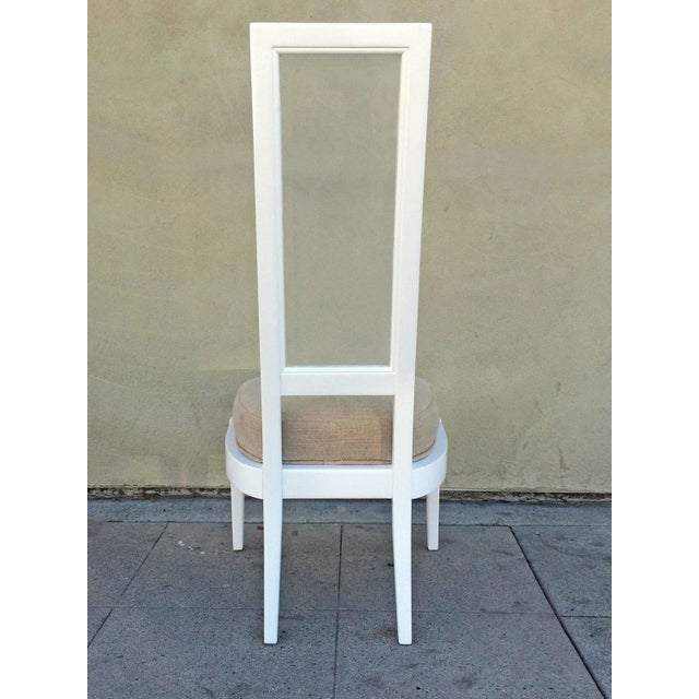 1970s White Lacquer And Lucite Dining Chairs - Set of 4 - Image 5 of 6