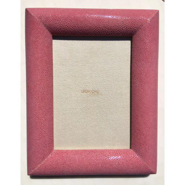 Rose Shagreen Picture Frame - Image 2 of 6