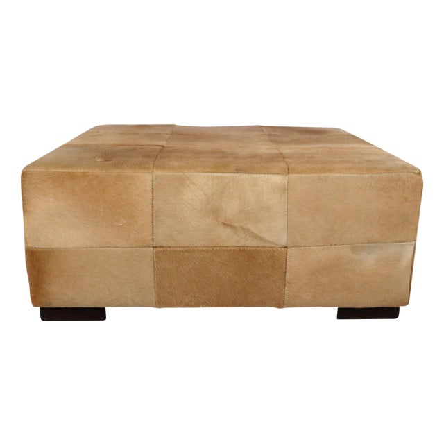 Image of Rectangular Cowhide Ottoman