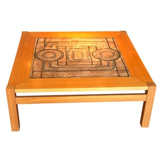 Ganso Mobler Tile Top Table by Herman Poulson