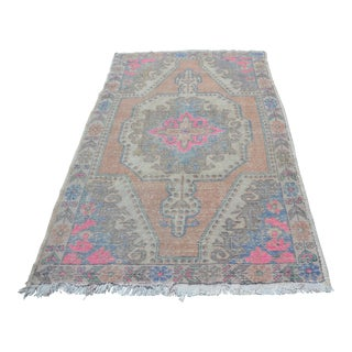 Pale Pink Faded Wool Rug - 4′7″ × 7′3″