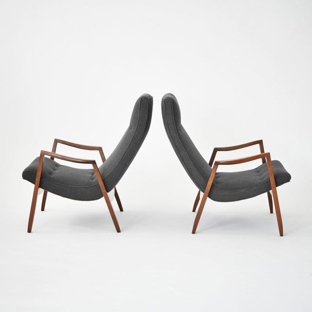 Milo Baughman Pair of Scoop Lounge Chairs - Image 4 of 7