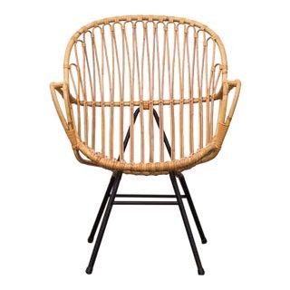 Retro Bamboo Arm Chair