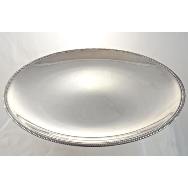 "Oversize 17"" Round Silver Tray, Circa 1950s - Image 4 of 4"