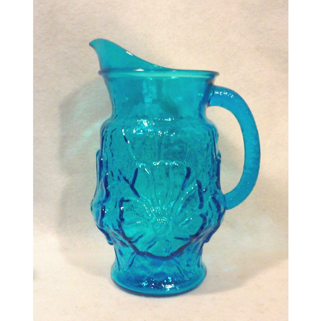 Turquoise Glass Pitcher and Tumblers Set of 17 - Image 6 of 6
