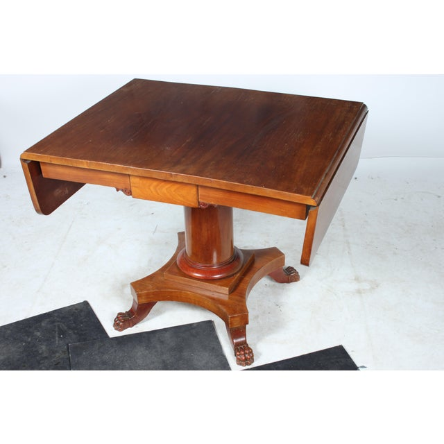 19th c empire style table chairish for Table th width ignored