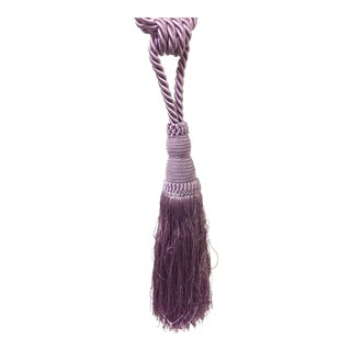Hollywood Regency Mauve Curtain Tieback Tassels