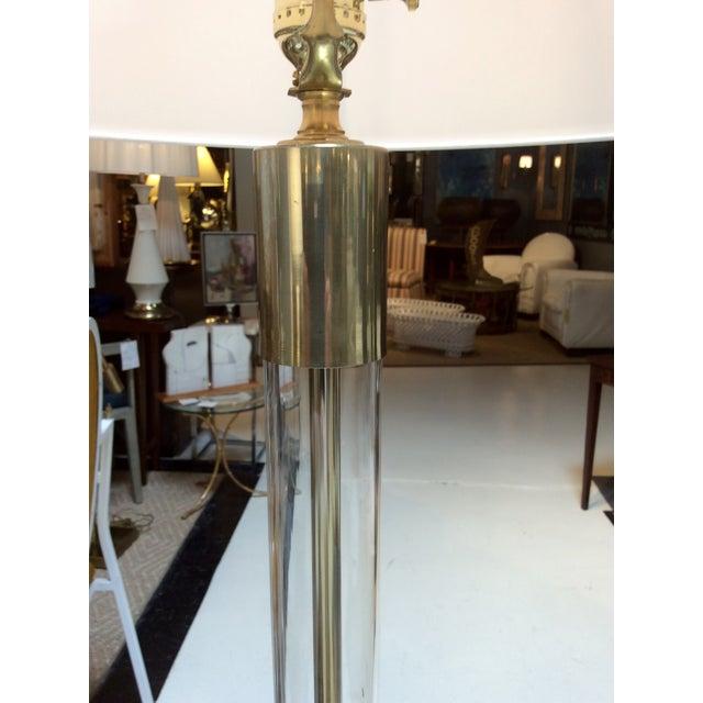 Image of Hansen Lighting Co.Style Glass & Brass Floor Lamps