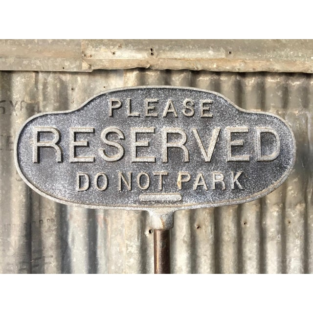 Vintage Cast Iron Curb Sign - Image 5 of 9