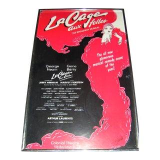 1983 La Cage Aux Folles Framed Window Card-George Hearn Gene Barry