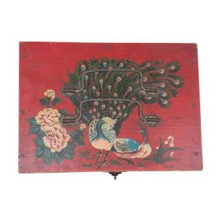 Asian Hand-Painted Vintage Keepsake Box