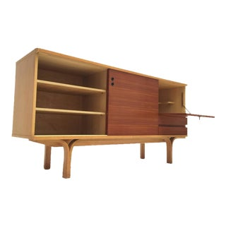 Stunning Ash and Mahogany Credenza Bar by J.a Motte, 1954 for Group 4 Charron
