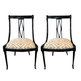 Vintage Weiman Swan Head Side Chairs- A Paie