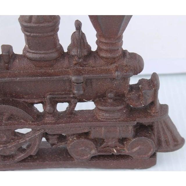19th Century Original Old Surface Iron Train Door Stop - Image 5 of 8