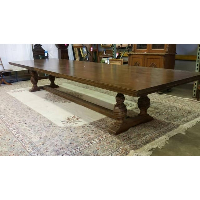 Image of Large Trestle Dining Table