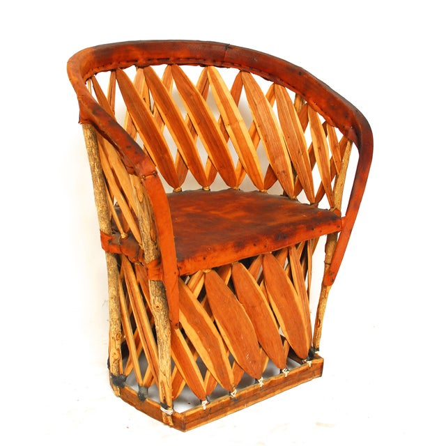 Mexican Equipale Barrel Chair Chairish