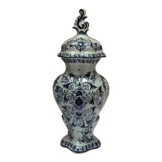 Delft Style Decorative Lidded Jar