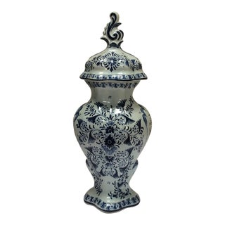 Delft Style Decorative Lidded Jar