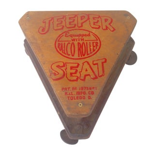 "Vintage ""Jeepers Seat"" Rolling Task Stool"