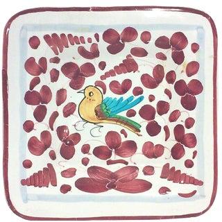 Italian Hand-Painted Bird Dish