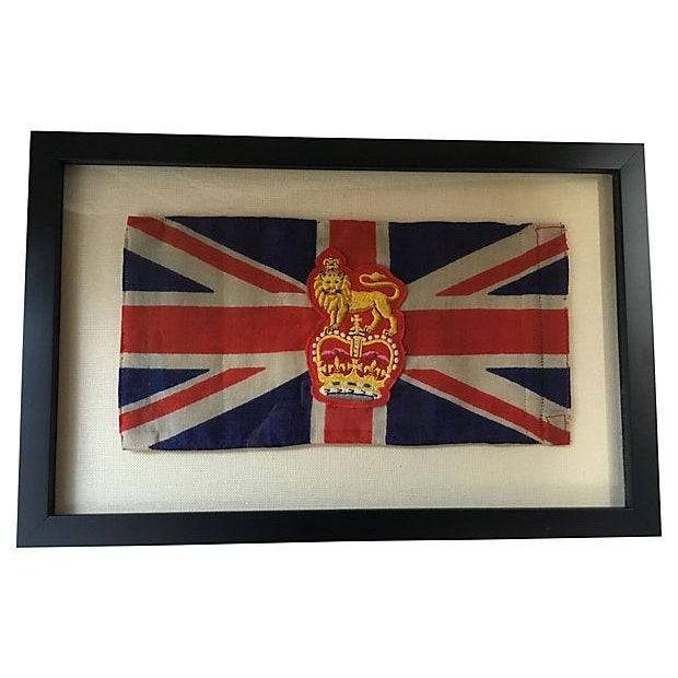 Framed King George Coronation Flag - Image 1 of 4