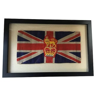 Framed King George Coronation Flag