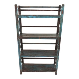 Vintage Blue Painted Shelf