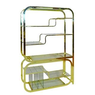 Modular Brass & Glass Etagere